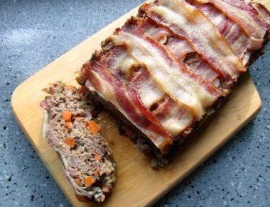 Buffalo Bacon Meatloaf
