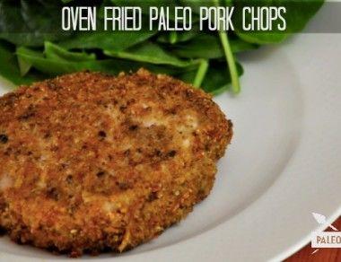 Oven Fried Paleo Pork Chops