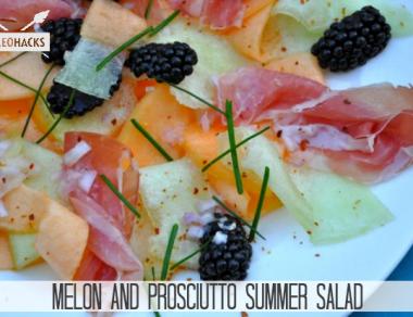 Melon & Prosciutto Summer Salad Recipe