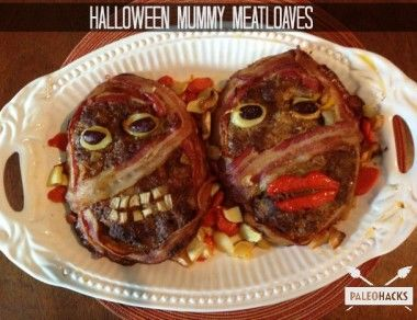 Halloween Bacon-Wrapped Mummy Meatloaf