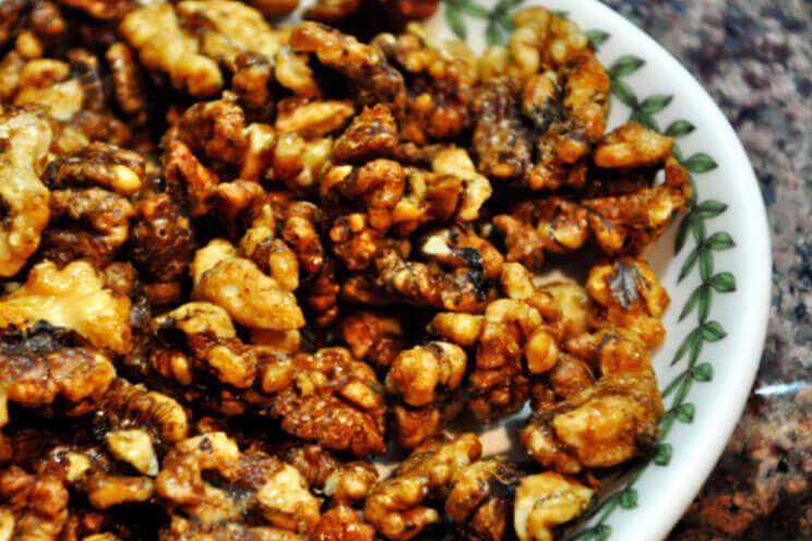 Maple Roasted Walnuts Recipe   Paleo, Refined Sugar Free