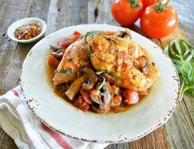 Paleo Crockpot Chicken Cacciatore Recipe
