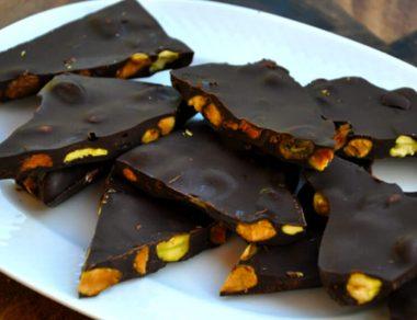 Dark Chocolate Pistachio Bark