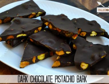 dark chocolate pistachio bark paleohacks