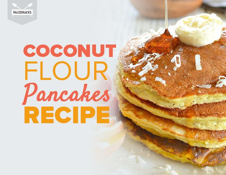 Delicious coconut flour pancakes paleo grain gluten free featured img ccuart Gallery
