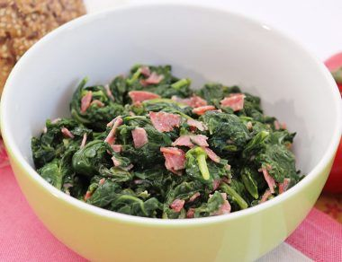 Sauteed Spinach With Bacon and Garlic
