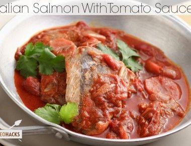 Italian Salmon with Tomato Sauce