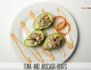 Tuna and Avocado Boats