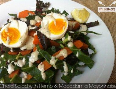 Chard Salad with Hemp & Macadamia Mayonnaise