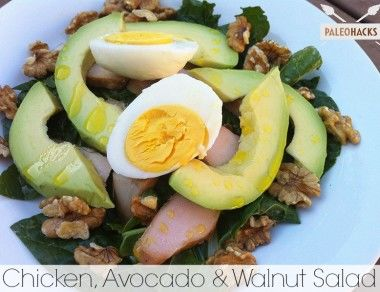 Chicken Avocado and Walnut Salad - Paleohacks