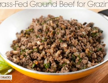 Grass-Fed Ground Beef for Grazing