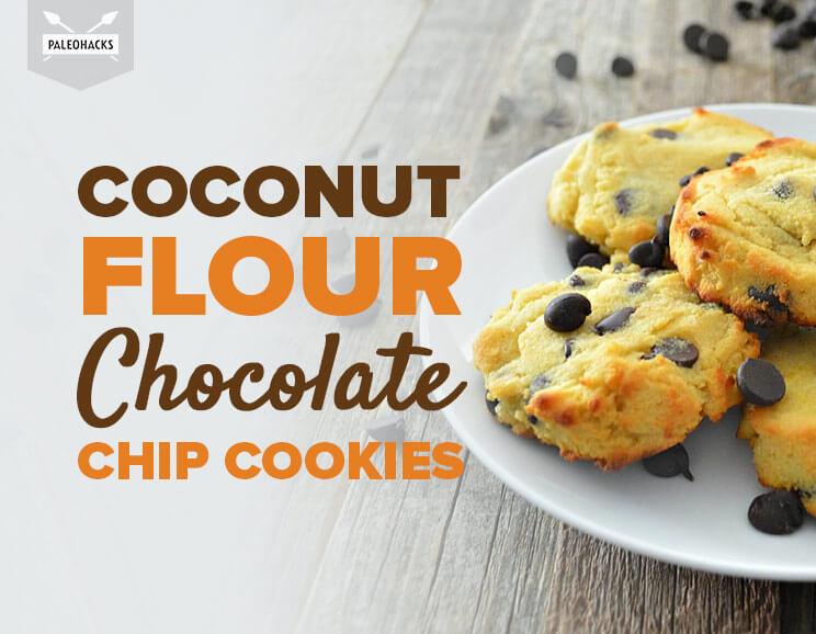 Paleo Hacks Coconut Flour Chocolate Chip Cookies