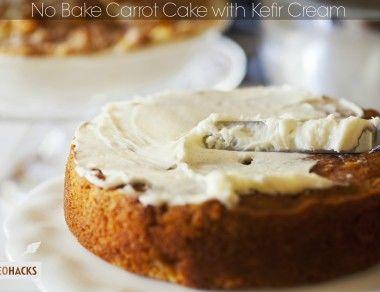 No-Bake Carrot Cake with Kefir Cream
