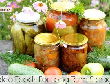Paleo Foods For Long Term Storage
