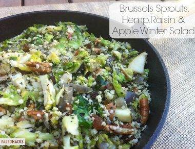 Brussels Sprouts, Hemp, Raisin & Apple Winter Salad