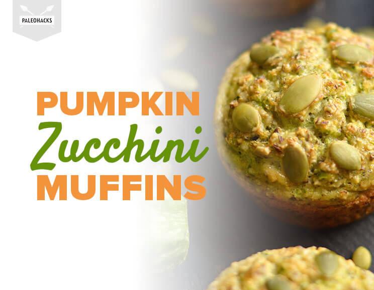 Pumpkin Zucchini Muffins | Egg Free, Paleo, Grain Free