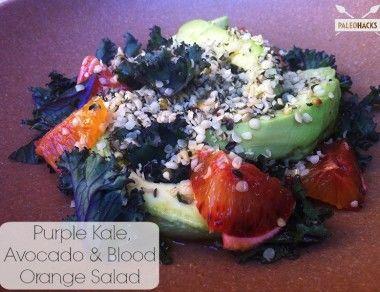 Purple Kale, Avocado & Blood Orange Salad