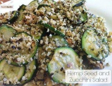 Hemp Seed Zucchini Salad
