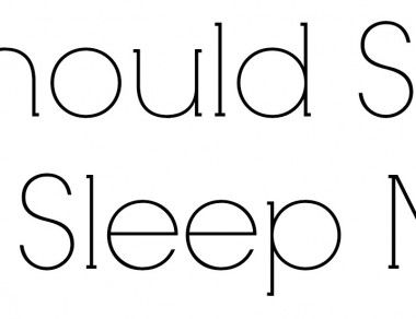 You Should Sit Less And Sleep More