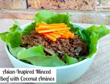 Asian Inspired Minced Beef with Coconut Aminos