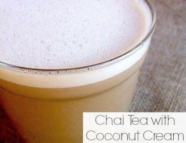 Chai Tea with Coconut Cream