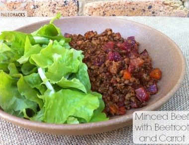 Minced Beef with Beetroot and Carrot
