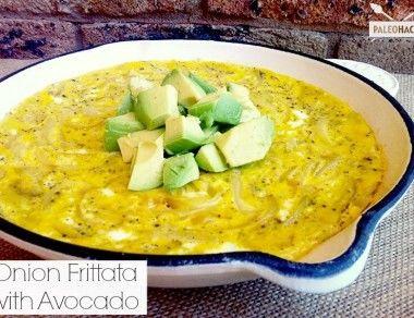 Onion Frittata With Avocado