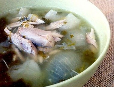 Parsley Turnip Chicken Soup