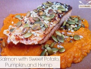 Salmon with Sweet Potato, Pumpkin and Hemp