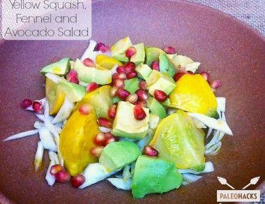 Yellow Squash, Fennel and Avocado Salad