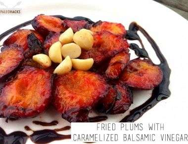 Fried Plums with Caramelized Balsamic Vinegar