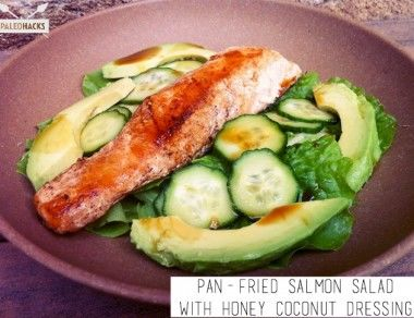 Pan-Fried Salmon Salad with Honey Coconut Dressing