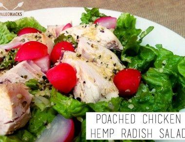 Poached Chicken Hemp Radish Salad