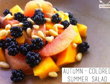 Autumn Colored Summer Salad