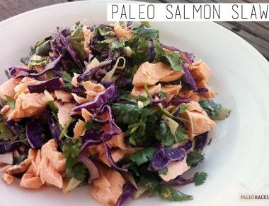 Paleo Salmon Slaw