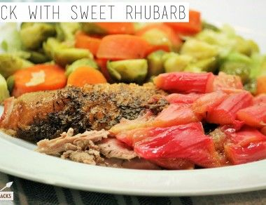 Duck with Sweet Rhubarb