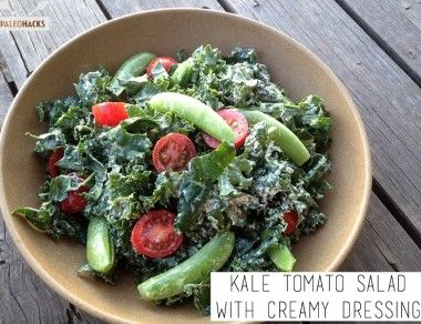 Kale Tomato Salad with Creamy Dressing