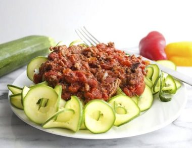 Paleo Zucchini Noodles with Meat Sauce
