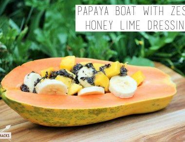 Papaya Boat with Zesty Honey Lime Dressing