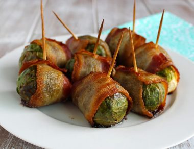 bacon-wrapped Brussel sprouts