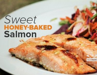 Sweet Honey-Baked Salmon