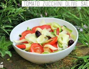 Tomato Zucchini Olive Salad