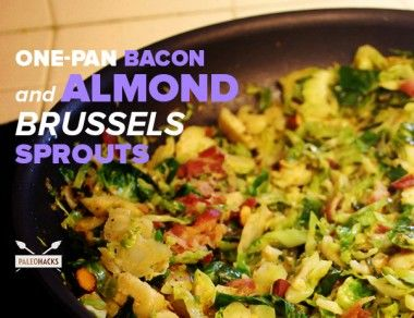 One-Pan Brussels Sprouts with Bacon and Almonds