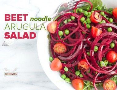 Beet Noodle Arugula Salad