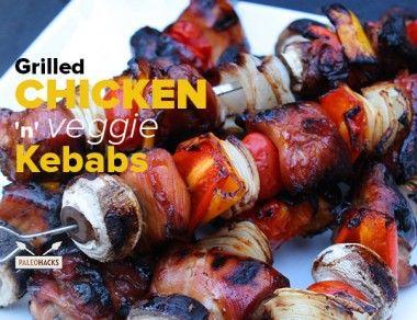 Grilled Chicken 'n' Veggie Kebabs
