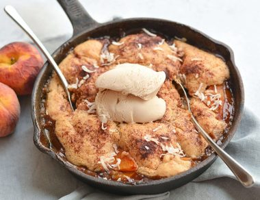 peach cobbler featured image