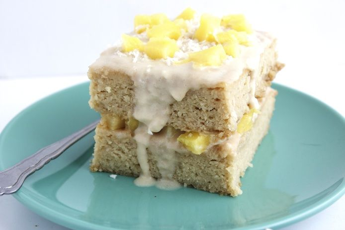 Pineapple Cake With Warm Coconut Icing