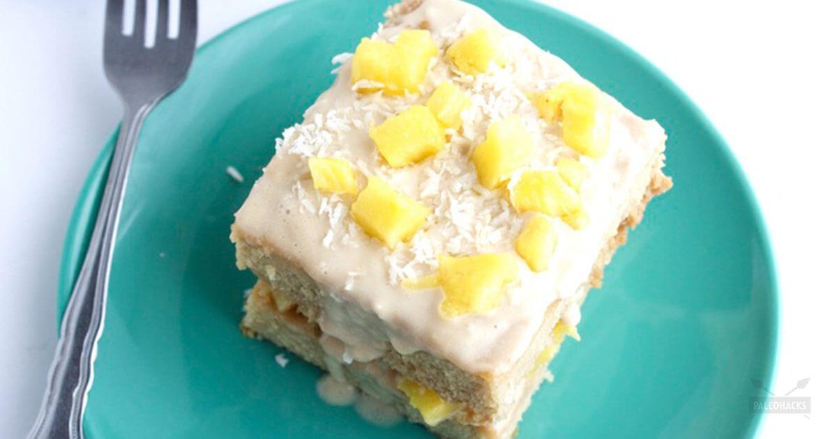 Dairy Free Coconut Flour Pineapple Cake