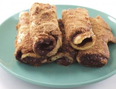 Chocolate Hazelnut Roll-Ups