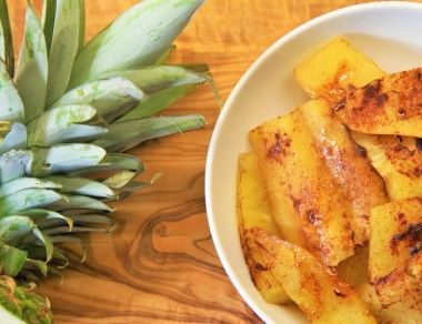 Simple Honey-Baked Pineapple
